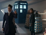 Missy and Clara Captured by the Daleks